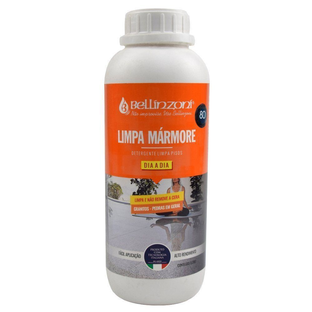 Kit Detergente para Limpeza Diária e Cera Liquida Renovadora para Mármore e Granito 1L - Bellinzoni   - COLAR