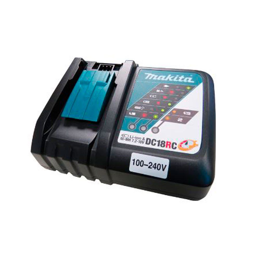 Kit Martelete Combinado DHR263Z + Parafusadeira Makita DHP481Z  + 02 Baterias BL1840B + Carregador Bivolt DC18RC  - COLAR