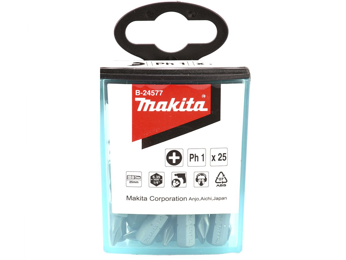 Kit Pontas de Bits Philips Ph2 Makita - 25 unidades  - COLAR