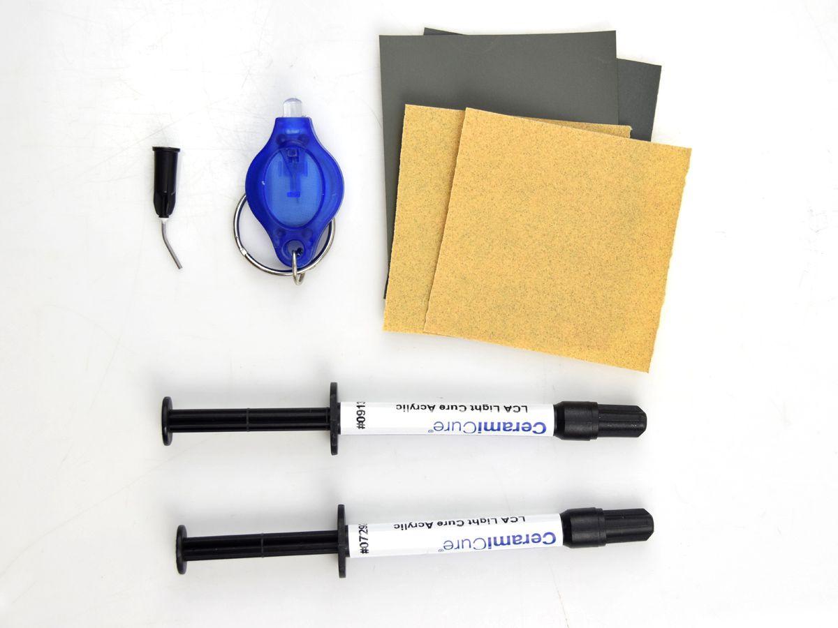 Kit Resina Fotocuravel LCA Clear Transparente Para Mármore e Granitos - CeramiCure