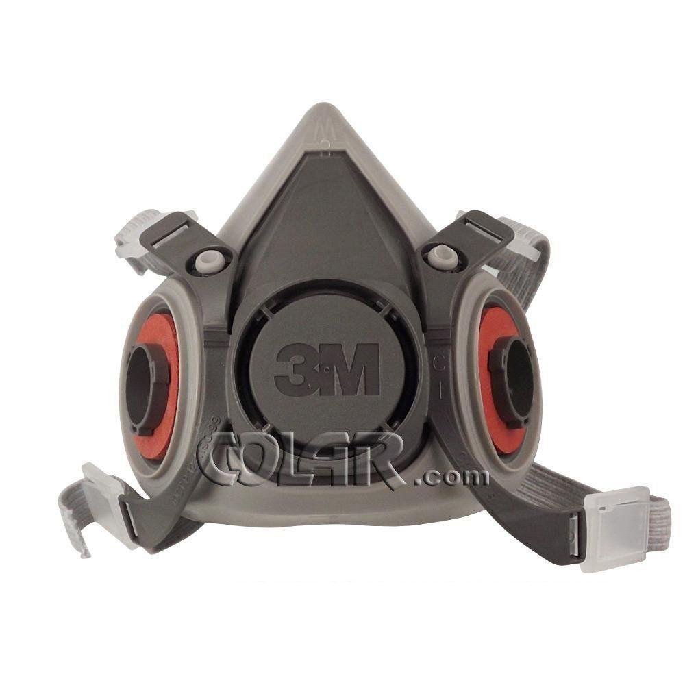 Kit: Respirador Semi Facial 3M + Cartucho Vapor Orgânico + Filtro 5N11 + Retentor para Filtro 5N11