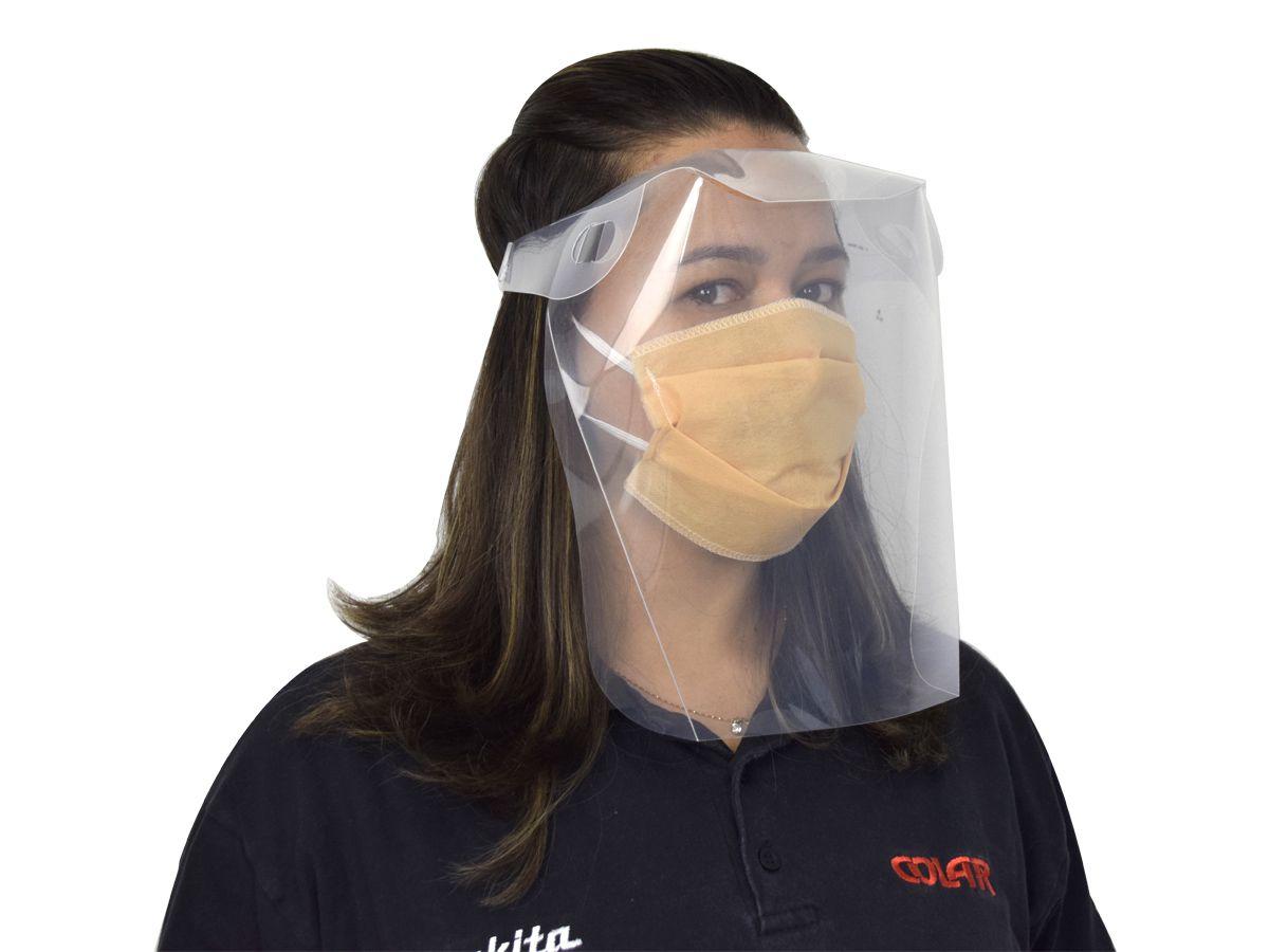Máscara Facial Descartável com Elástico  Bhiosfera - Cores Variadas   - COLAR