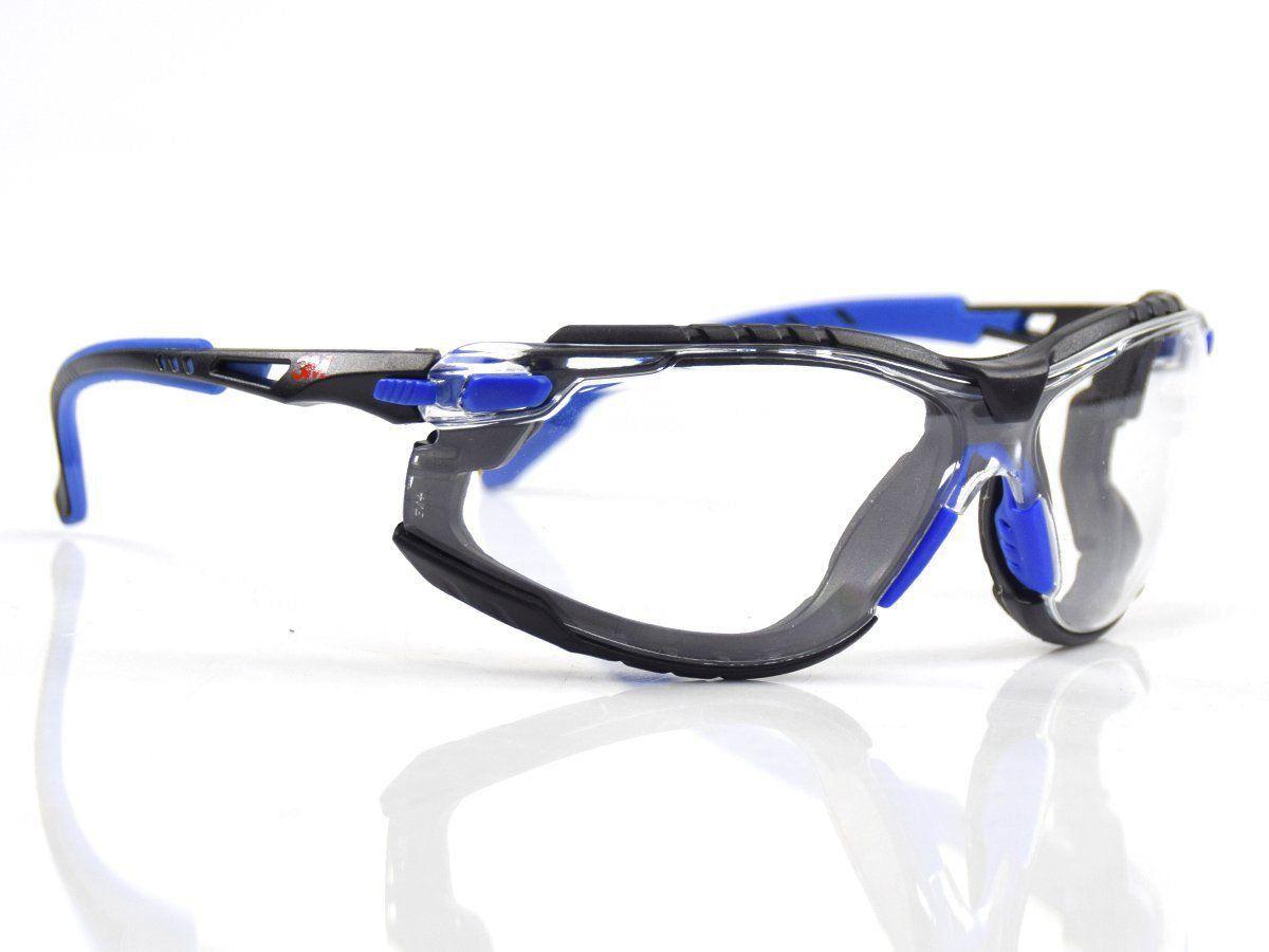 13ada2df21f38 Óculos de Segurança 3M™ Kit Solus 1000 Transparente com tira elástica e  espuma de vedação ...