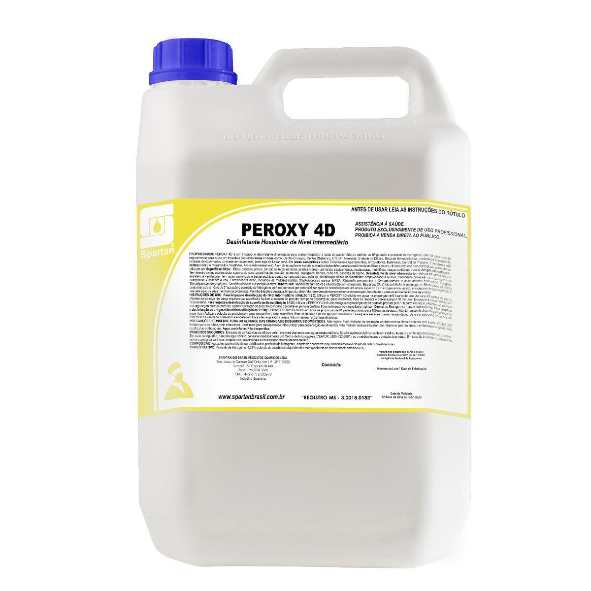 Peroxy 4D - Desinfetante de Alto Desempenho Indicado Para Área Hospitalar - 5 Litros