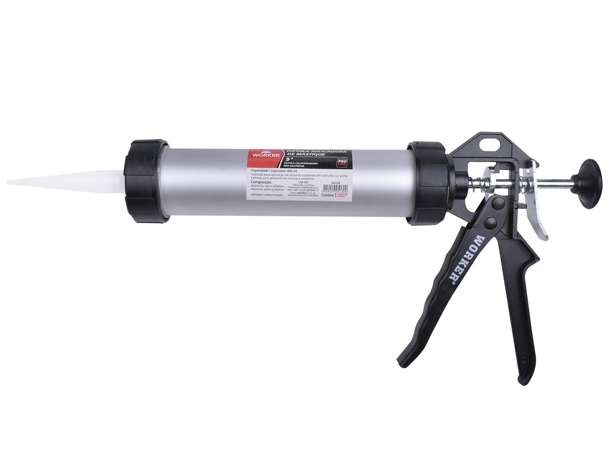 Pistola de Aluminio Aplicadora de Mastique 310ml - Worker