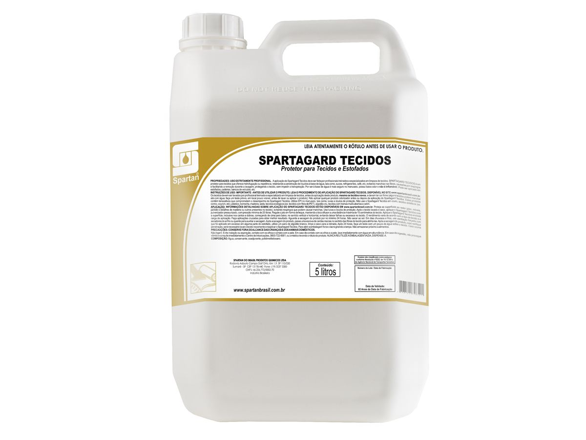 Protetor para Tecidos e Estofados SPARTAGARD - 5 Litros