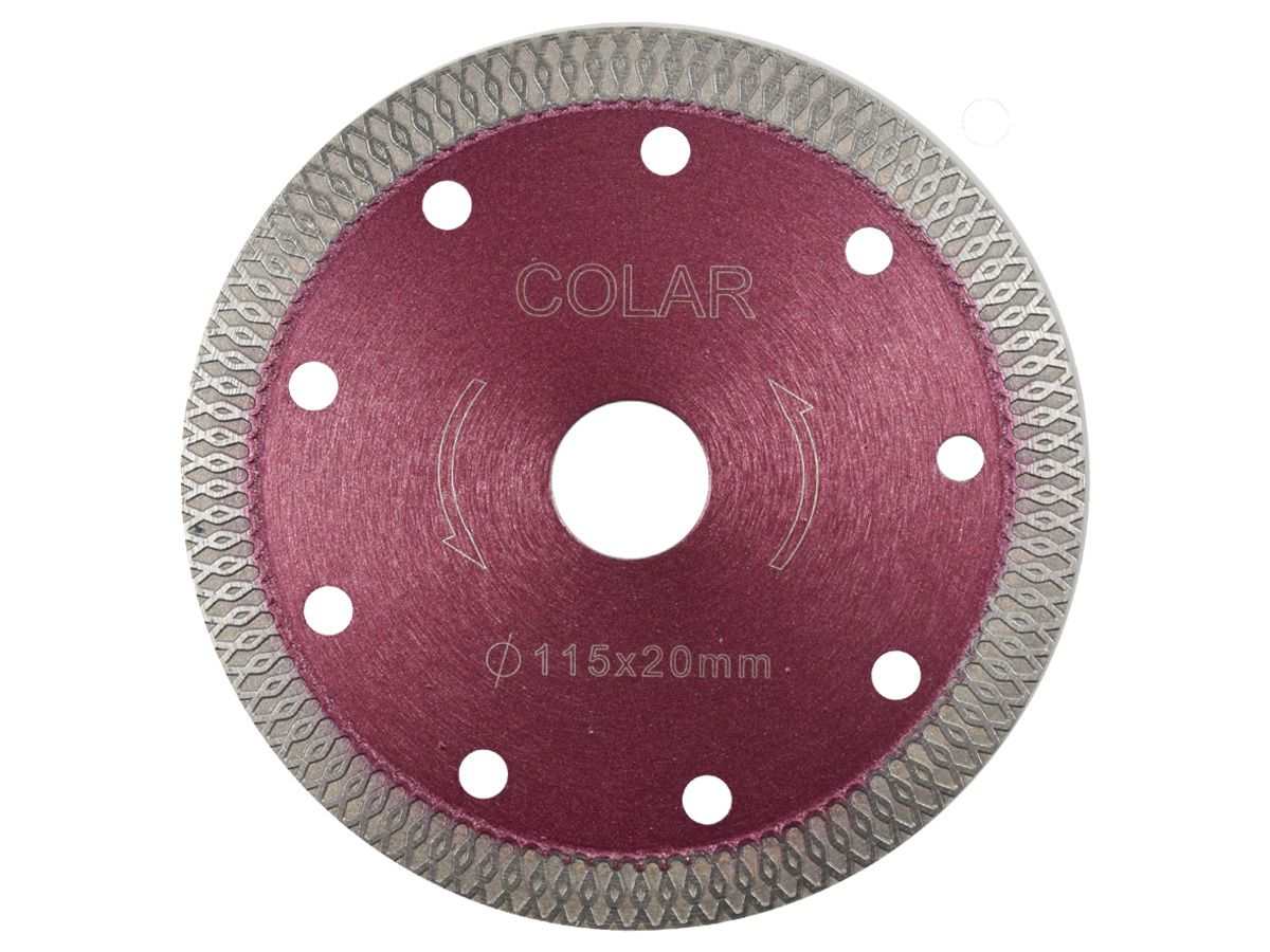 Disco X Turbo 115 mm - para corte de cerâmicas e porcelanatos  - COLAR