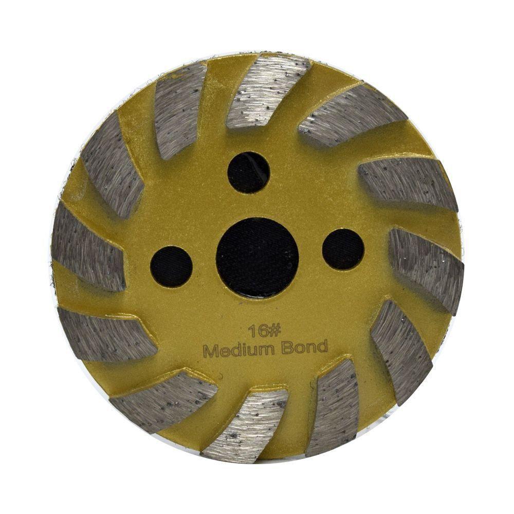 Rebolo Metalico Diamantado 100mm com Velcro - Maxtool