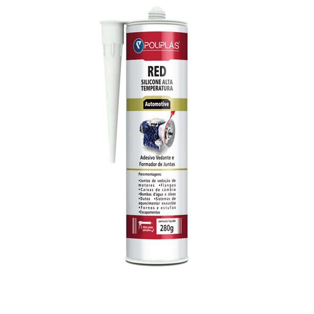 Silicone Poliplás Red Alta Temperatura Automotivo 280gr  - COLAR