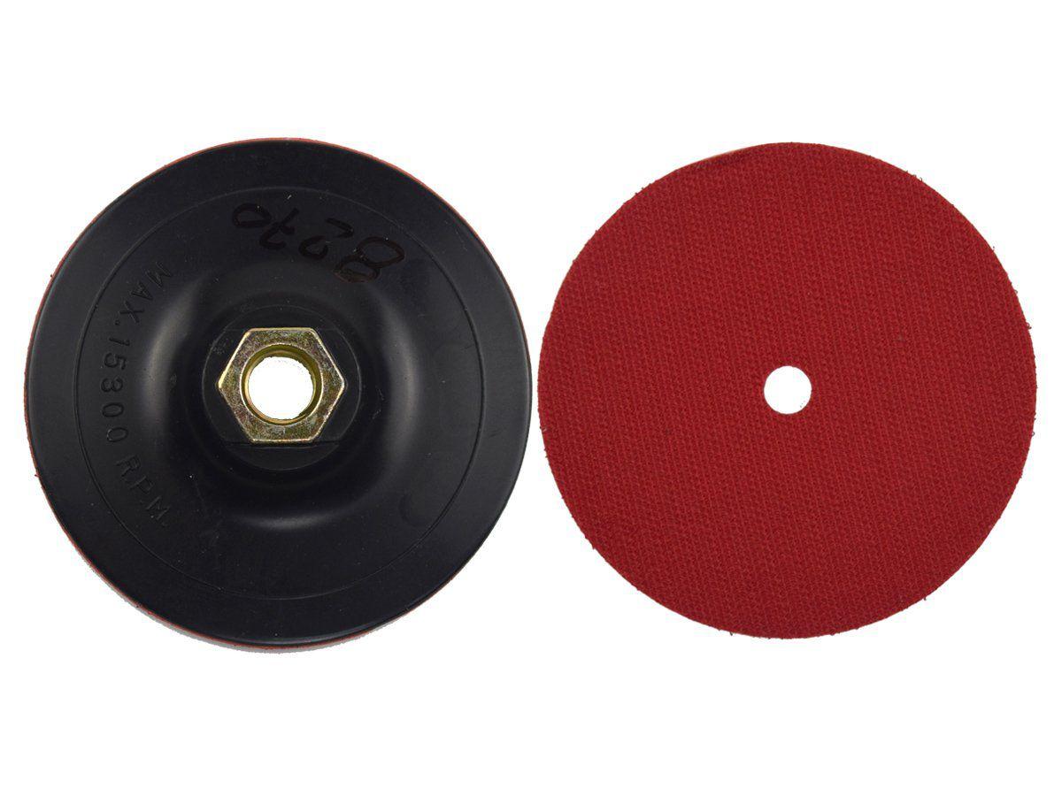 Suporte de Lixa Rígido 4 Polegadas C/ Velcro M14 - DIAMAX  - COLAR