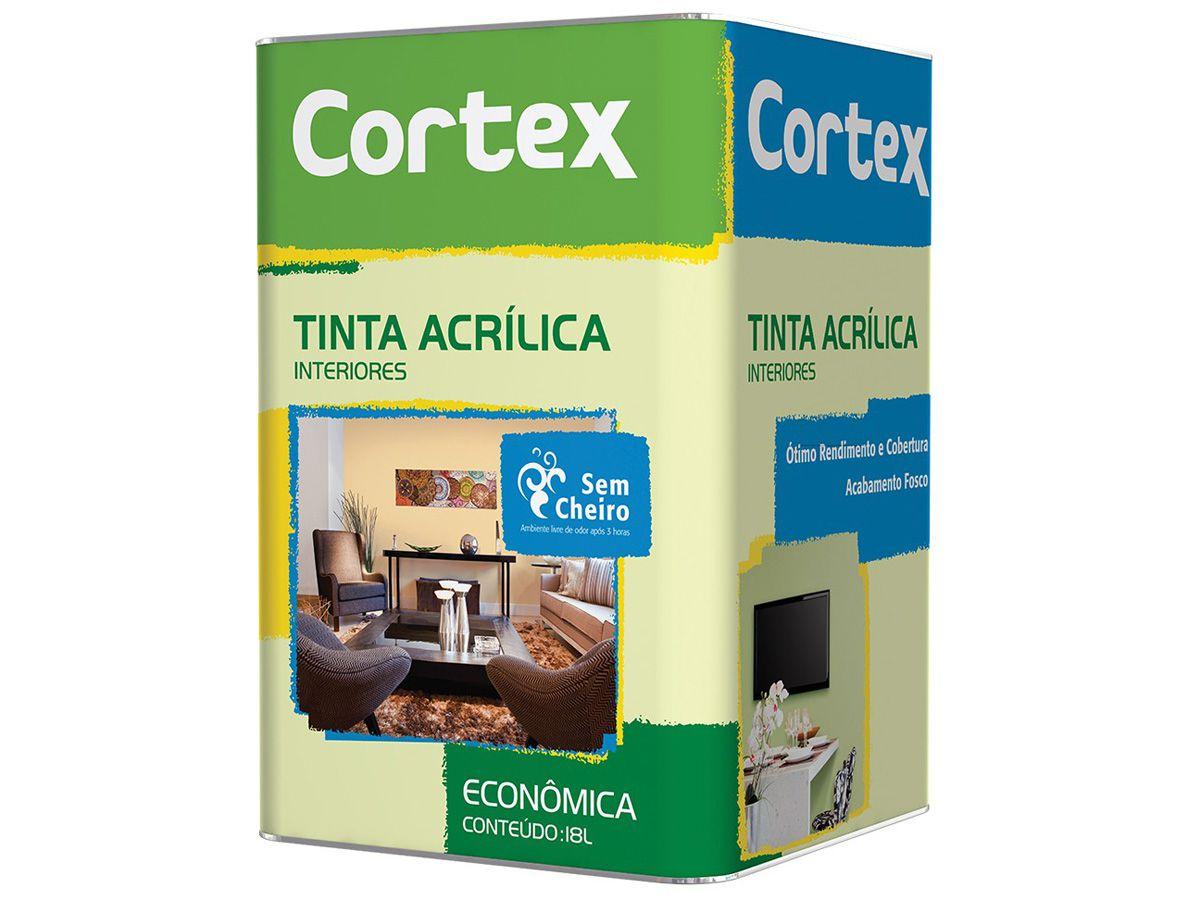 TINTA ACRÍLICA CORTEX ECONÔMICA - FUTURA TINTAS - 18 LITROS  - COLAR