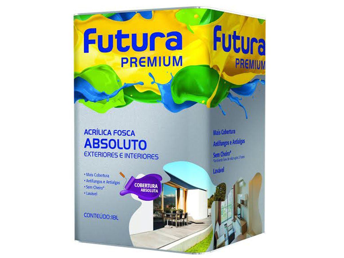 Tinta Acrílica Fosco Absoluto - Futura Premium - 18 Litros   - COLAR