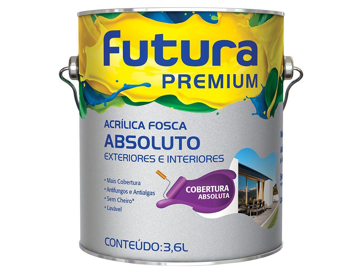 Tinta Acrílica Fosco Absoluto - Futura Premium - 3,6 Litros  - COLAR