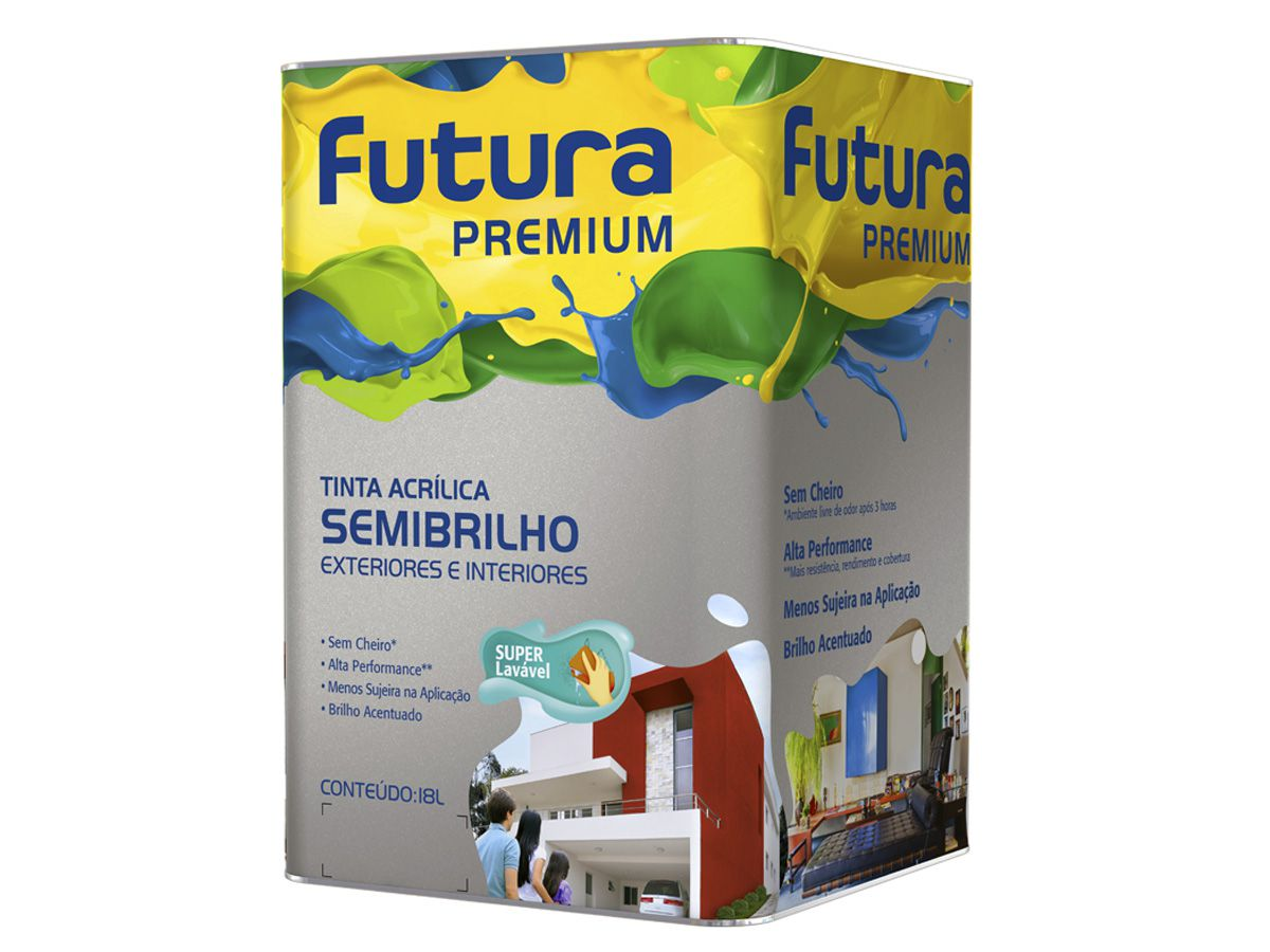 Tinta Acrílica Semi Brilho - Futura Premium - 18 Litros