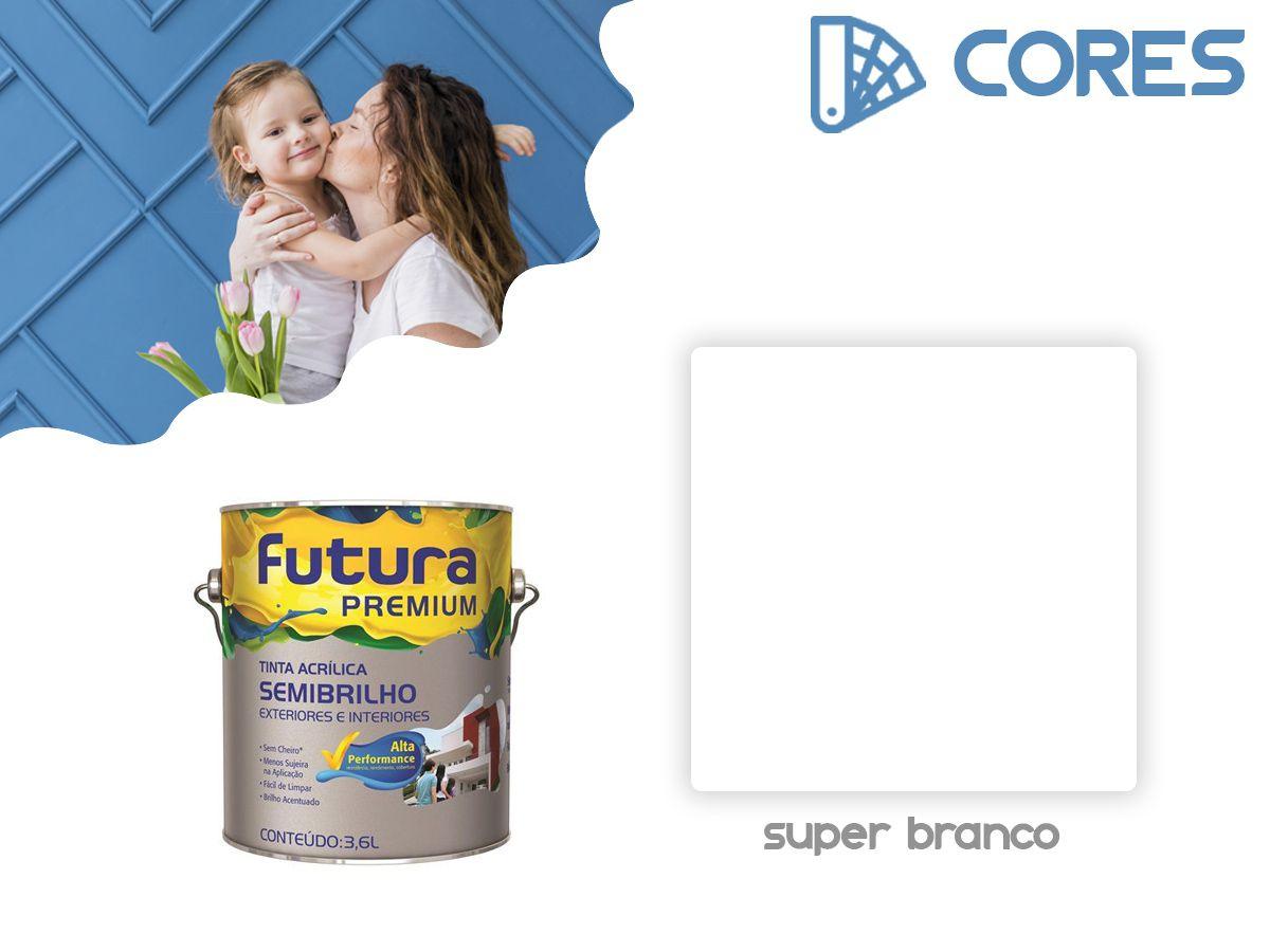 Tinta Acrílica Semi Brilho - Futura Premium - 3,6 Litros  - Branco  - COLAR
