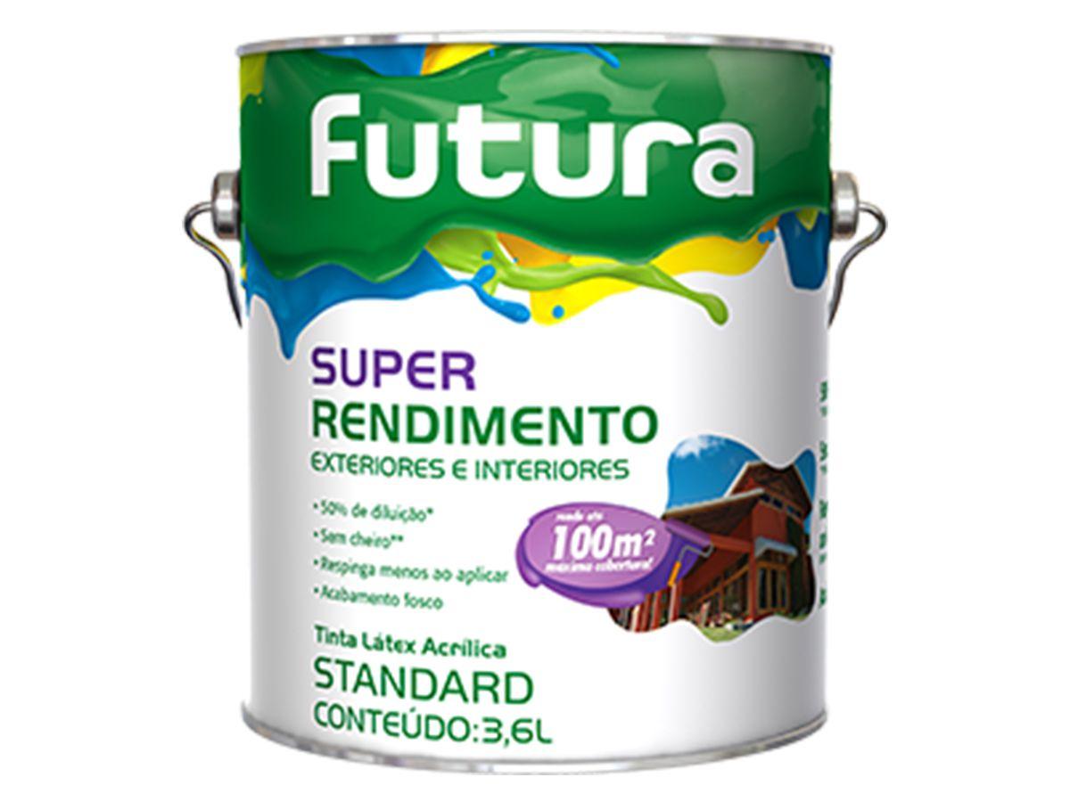 Tinta Látex Acrílica Super Rendimento Futura - 3,6 Litros    - COLAR