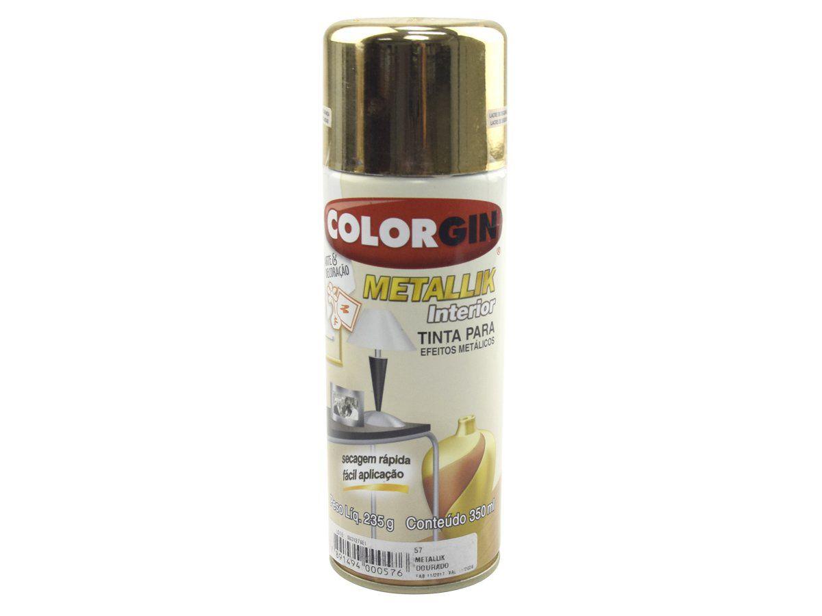 Tinta Para Efeitos Metálicos ColorGin 350ml  - COLAR