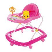 Andador Infantil de Plástico com Brinquedo Acoplado BW062RS - Rosa