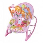 Cadeira Bebê Descanso Acolchoada Vibratória Musical Função Balanço até 11,3kg BW094RS - Rosa