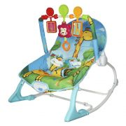 Cadeira Bebê Descanso Vibratória Musical Balanço até 9kg BW046AZ - Azul