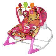 Cadeira Bebê Descanso Vibratória Musical Balanço até 9kg BW046RS - Rosa