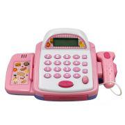 Caixa Registradora Infantil Rosa Musical BW042RS