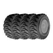 Combo com 4 Pneus 10-16.5 Jk Tyre Jet Trax Super L3 10 Lonas Minicarregadeira, Bobcat