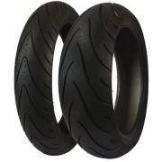Combo Pneu Dianteiro 120/70R17 + Traseiro 190/50R17 Michelin Pilot Road 2 2CT TL Moto