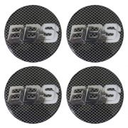 Kit 4 Emblemas Rodas BBS 70mm Adesivo Resinado Para Rodas/Calotas