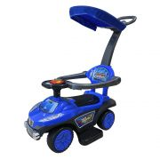 Mini Carrinho de Passeio Infantil com Empurrador e Capota BW060AZ - Azul