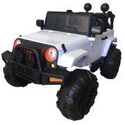 Mini Carro Elétrico BW028 Com Controle Remoto 12V - Branco (Modelo Jeep)