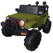 Mini Carro Elétrico BW028 Com Controle Remoto 12V - Verde (Modelo Jeep)
