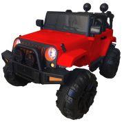 Mini Carro Elétrico BW028 Com Controle Remoto 12V - Vermelho (Modelo Jeep)