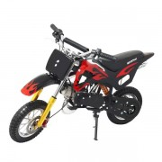 Mini Moto Cross Dirt 49cc Gasolina WVDB006P - Preta