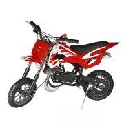 Mini Moto Cross Dirt 49cc Gasolina WVDB006V - Vermelha