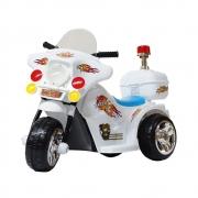 Mini Moto Elétrica Police 6V BW006BR - Branca