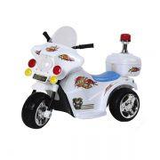 Mini Moto Elétrica Police BW006 - Branca