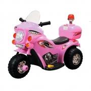 Mini Moto Police Miniway 6V BW002R - Rosa