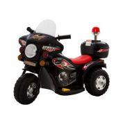 Mini Moto Police Miniway BW002 - Preta