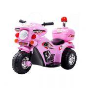 Mini Moto Police Miniway BW002 - Rosa