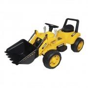 Mini Trator Escavadeira Elétrico Infantil 12V BW081AM - Amarelo