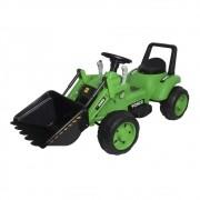 Mini Trator Escavadeira Elétrico Infantil 12V BW081VD - Verde