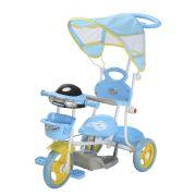 Triciclo Infantil 2 em 1 com Capota BW003 - Azul