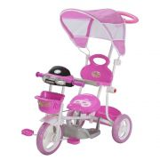 Triciclo Infantil 2 em 1 com Capota BW003 - Rosa