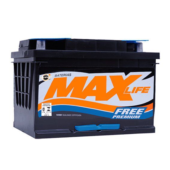 Bateria Selada Max Life - Linha Premium: Lado Esquerdo - 60 Ah