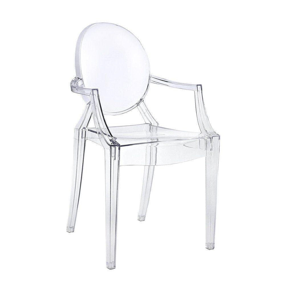 Cadeira Acrílica Transparente Sophia Com Braço