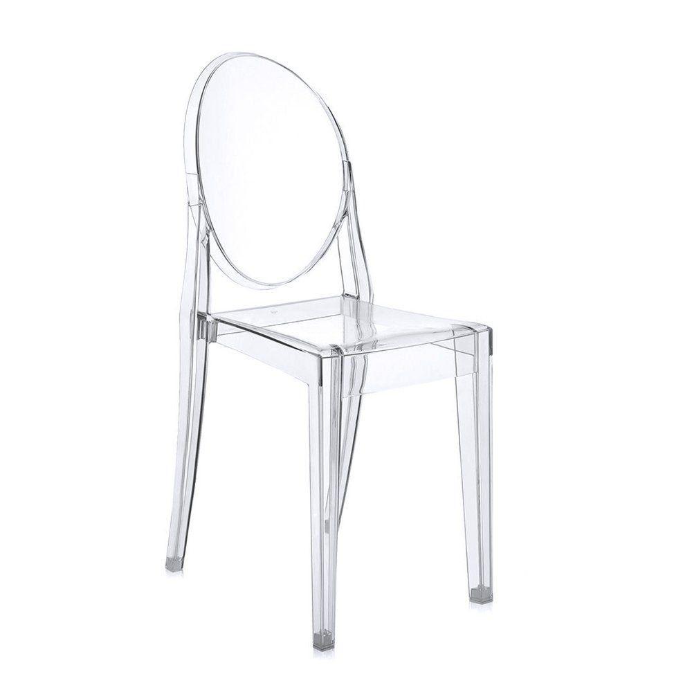 Cadeira Acrílica Transparente Miss Sophia Sem Braço