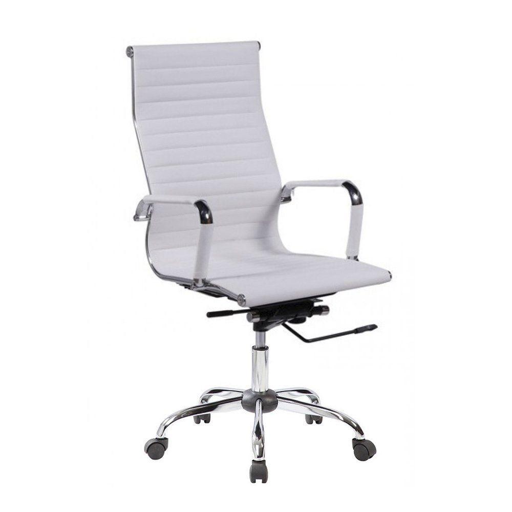 Cadeira De Escritório Presidente Esteirinha Eames - Branca