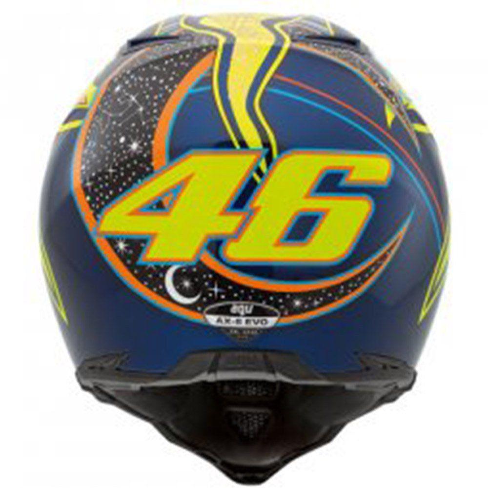 Capacete AGV AX-8 Top Five Continents Cor: Azul Amarelo