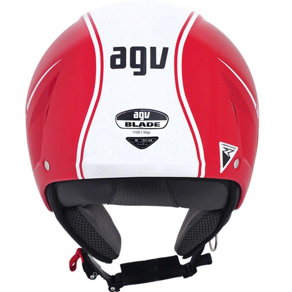 Capacete AGV Blade Start Cor: Vermelho Branco